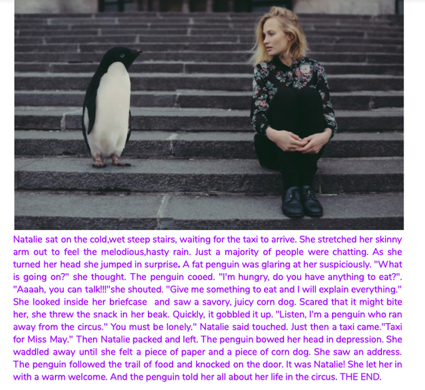 Kanyin's Penguin Story using speech