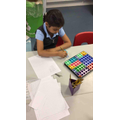 Practising addition with numicon