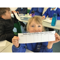 We used a place value grid to record the measurement of different parts of our bodies.
