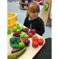 Ava-Lilly did super talking about the fruit and vegetables she likes.
