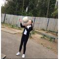 Completing the handball juggling challenge