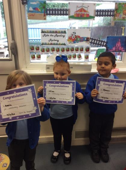 Well done Amelia, Erika and  Ayaan for being outstanding learners.