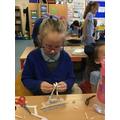 Making shelters.