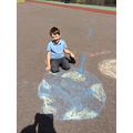 Joshua chalked Earth