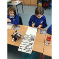 Writing the instruction using turns and directions.