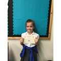 A well deserved kindness award for Bree this week