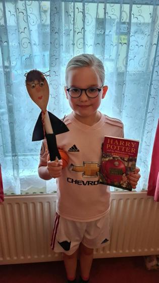 Elsie-Mae and Harry Potter