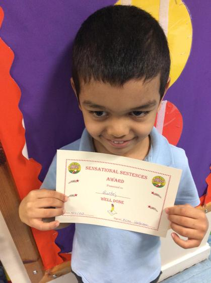 Gurtej for working hard during phonics and improving his letter formation.