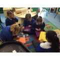 Fine motor skills session creating shapes and letters.