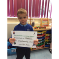 Well done Dominic for outstanding learning this week