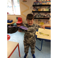 We then made butterflies using tissue paper.