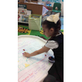 In maths this week we learnt about positional language and giving directions.