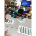 We are practising our subtraction skills.