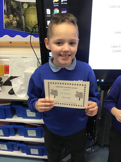 Rhys! I am so proud of you! Fantastic attitude towards learning in all subjects!:)
