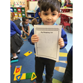 The children formed recognisable letters when writing their shopping list