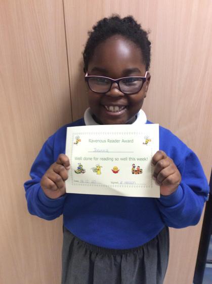 ravenous reader award for lovely reading.
