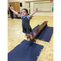Nia enjoys her P.E lesson and shows us how to jump off and land safely