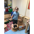The children loved exploring the deconstructed role play area