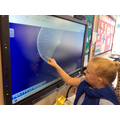 Using an interactive protractor to measure angles
