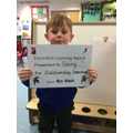 Outstanding learning this week sonny well done.