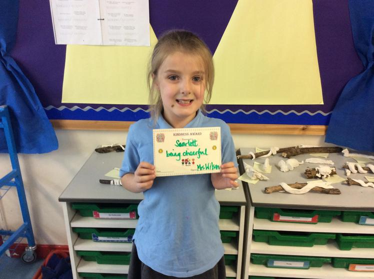 Scarlett - The kindness award for always being cheerful
