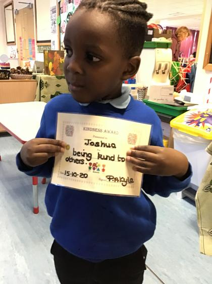 Well done Joshua for being kind to others.