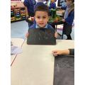 Bogdan practises writing his numbers