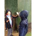 Joshua and Connor enjoyed the rain!