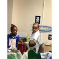 The children enjoyed playing in the toy hospital