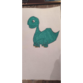 Sofia completed a tutorial to draw this dinosaur