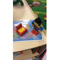 We used construction materials to make pirates, treasure chests and boats.