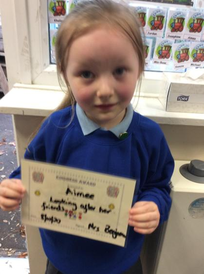 Well done Aimee  for  always showing concern for your friends.