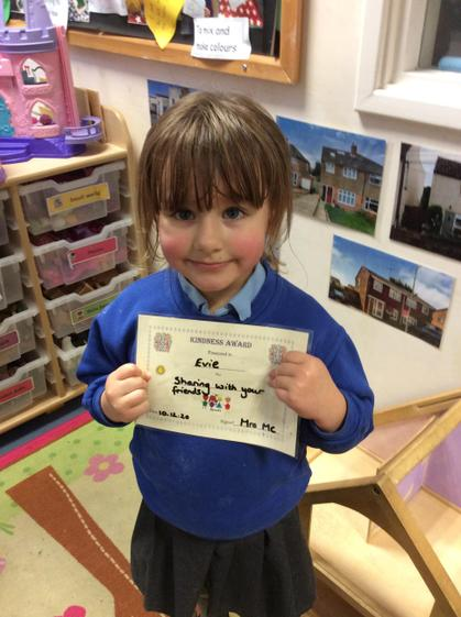 Well done Evie for sharing with your friends.