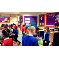 We had our Christmas party! We had lots of fun dancing and playing games.
