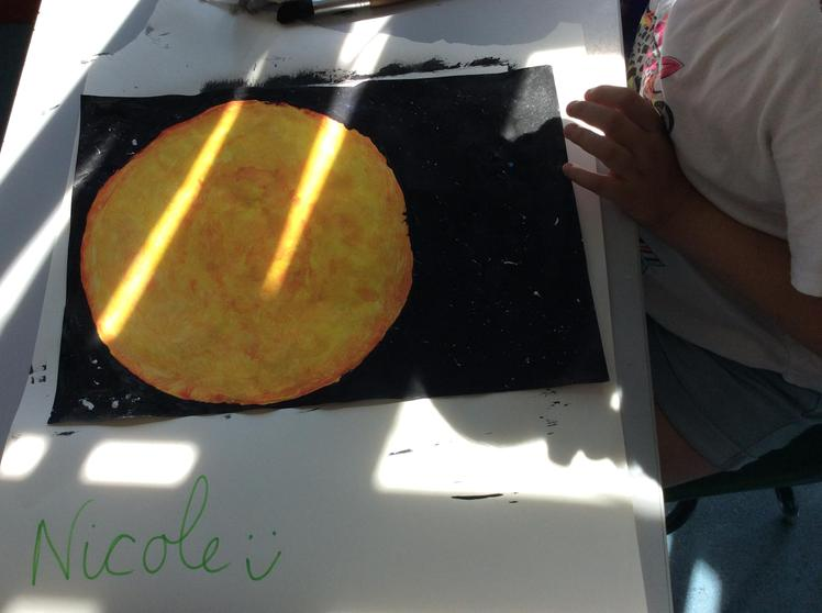 Science - Scaled Drawings of the Sun, Earth & Moon