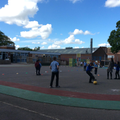 Rewarding our great efforts with a game of kick rounders