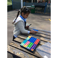Practising addition with numicon.