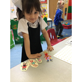 Aliah create her own props for Goldilocks and the Three bears