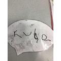 Kuba wrote his name independently