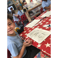 We are learning to write words and captions.