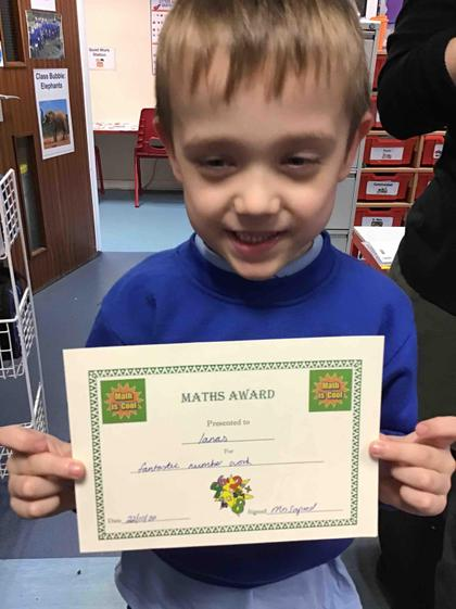 Week 7- Ianas got an award for all his fantastic addition