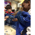 We played with slime and watched how it changes in our hands.