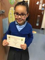 Week 5  8.10.20  Nina earnt the Sensational Sentences award