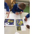 """We loved the story of """"Whatever Next"""" We drew pictures and sequenced the story."""