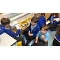 Practising phonics together.