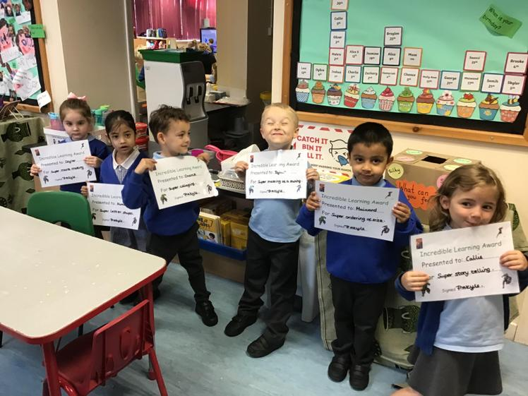 Each week, 6 children are chosen for their incredible work. Well done!
