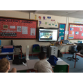Watching Live Science sessions as part of British Science Week