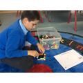 Harvey followed his design of a castle using Lego