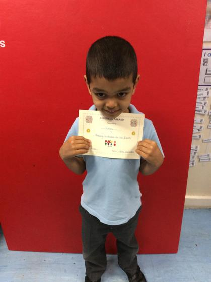 Week 7- Gurtej for being a good friend to other children in the class.