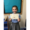 Well done Mia for being consistently kind and helpful!